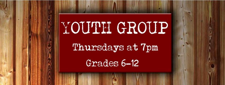 Youth Group, Thursdays, 7-8pm